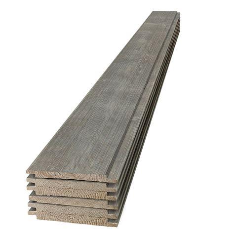 1 X 8 Shiplap Pine by 1 In X 8 In X 4 Ft Barn Wood Gray Shiplap Pine Board 6