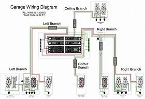 Basic Garage Wiring Diagrams Outlets