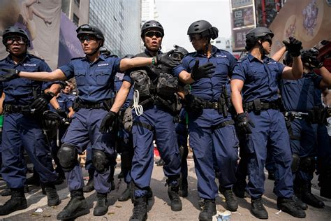 hong kong police clear protest camp arrest movement