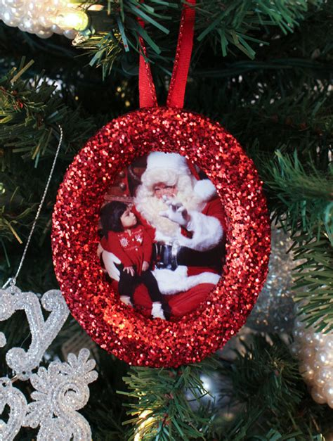Glitter Photo  Ee  Christmas Ee    Ee  Tree Ee   Ornaments Two Sisters