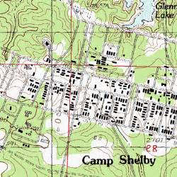 Camp Shelby Mississippi Map