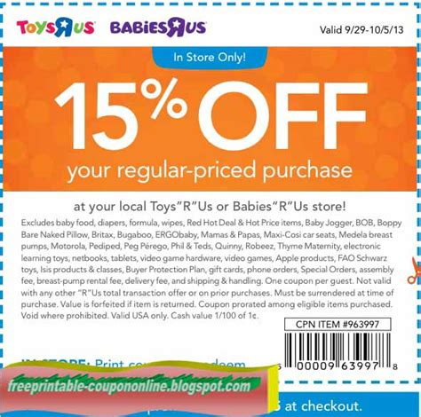19247 Free Printable Toys R Us Coupons by Printable Coupons 2019 Toys R Us Coupons