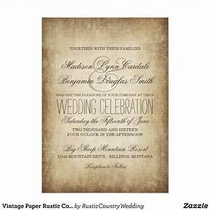 vintage paper rustic country wedding invitations zazzle With rustic country wedding invitations com