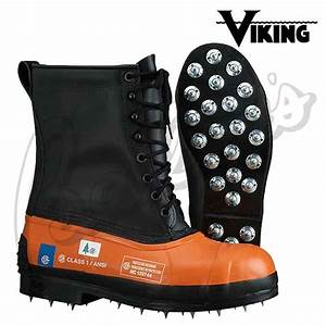 Viking Black Tusk Chainsaw Boots - Caulked Soles