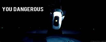 Portal Glados Gifs Change Mute Animated Dangerous