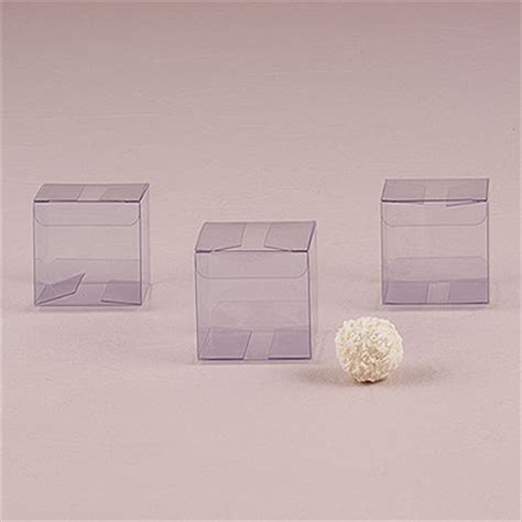 transparent acetate favor box  knot shop