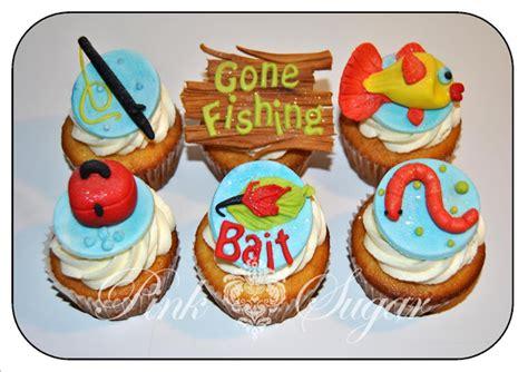pink sugar  fishing cupcakes