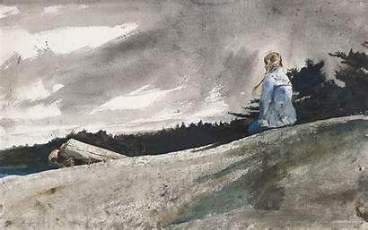 Wyeth Andrew Watercolor Paintings Helga Knapsack Artist