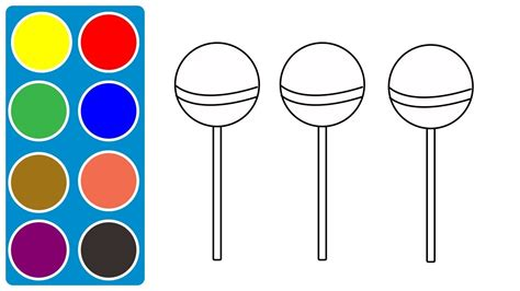 How To Draw Lollipop, Candies, Sweets Coloring Pages