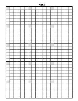 math answer sheet  graph paper grid math answers