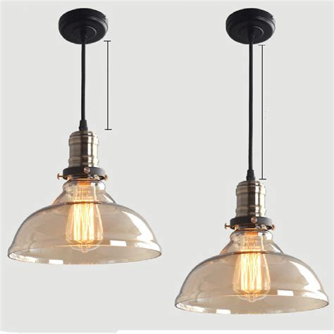 vintage industrial glass ceiling l lighting pendant