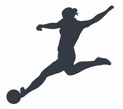 Silhouette Soccer Player Female Clip Athlete Clipart