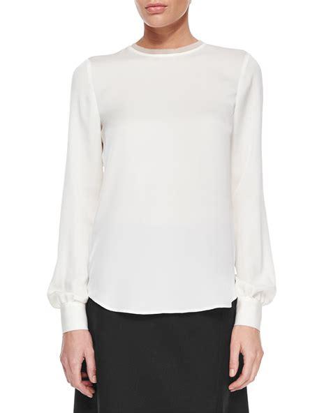 white blouse sleeve sleeve white silk blouse black blouse