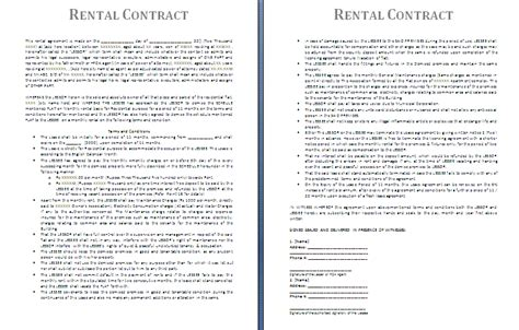 renting contract template 28 images sle blank rental