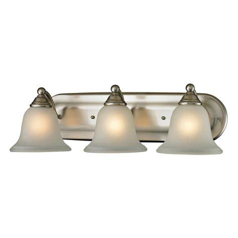 led vanity lights shop westmore lighting 3 light wyndmoor brushed nickel led
