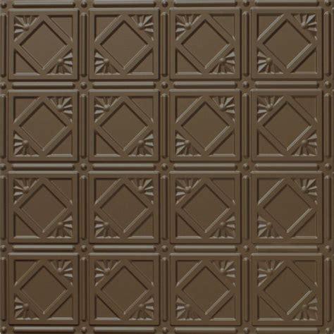 genesis 2 ft x 2 ft smooth pro black ceiling tile 740 07