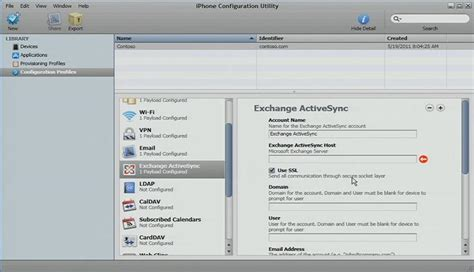device management iphone deploying microsoft exchange on the iphone and