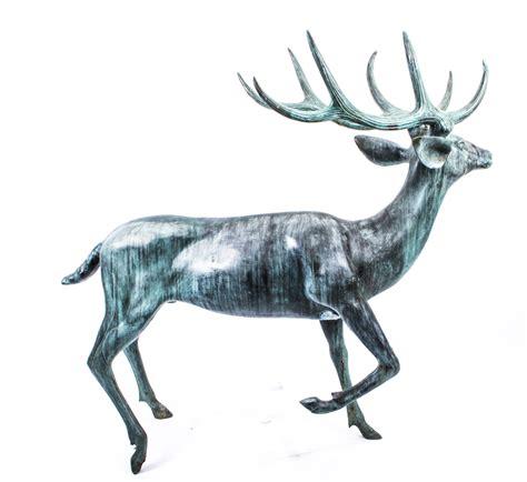 bronze 3 reindeer statue regent antiques bronzes impressive size 3ft 6 quot bronze reindeer statue