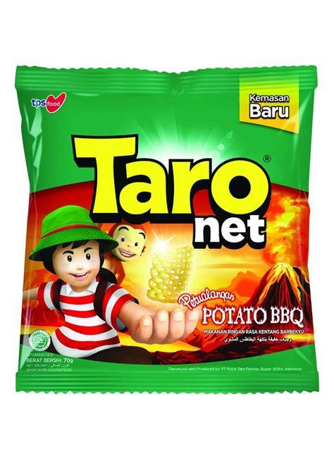 tempat snack taro snack net potato barbeque pck 65g klikindomaret