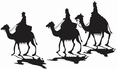 Kings Silhouette Three Clip Clipart Nativity Transparent