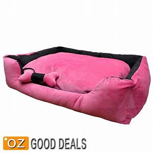 new extra large pet dog cat bed mat thick cushion free toy With big pink dog bed