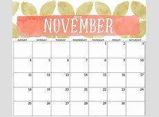 Print Calendar November 2018 Printable – Business Calendar
