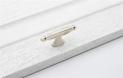 Fashion 10pcs Single Hole Ivory White Drawer Handle Luxury
