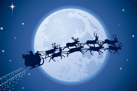 Reideer And Father Christmas Template For Windows by Recap Santa Claus Posts Updates As He Flies Around The