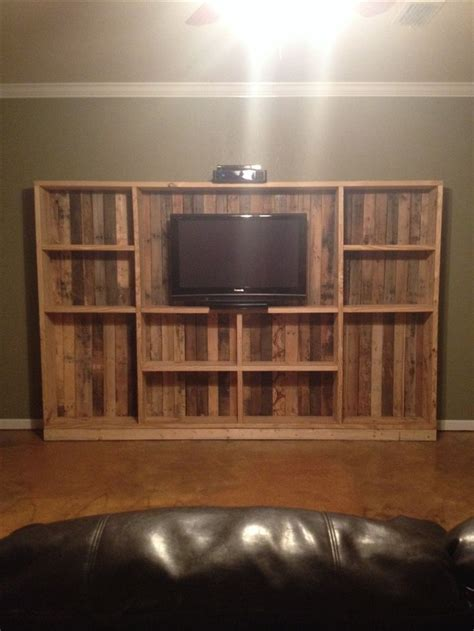 diy pallet entertainment center pallets  crates