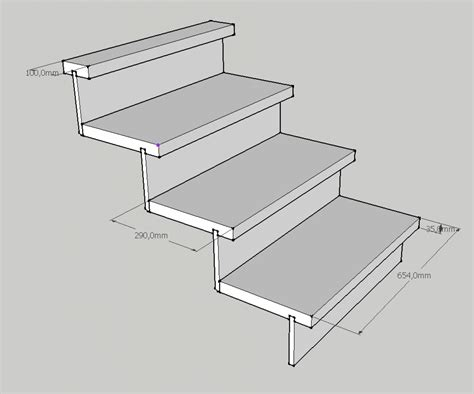 cr 233 er un petit escalier en bois de 3 marches