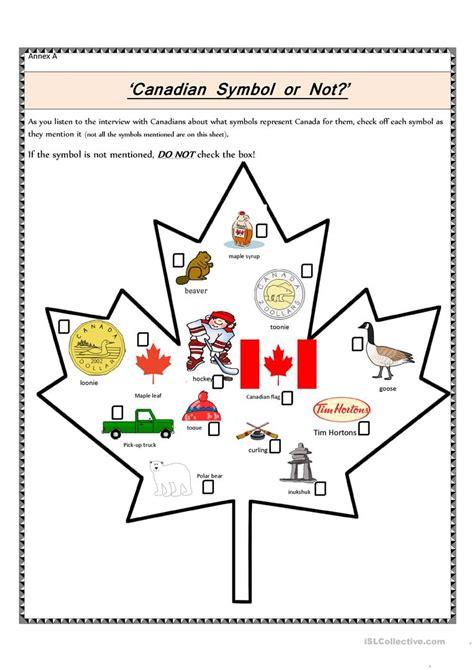 canadian symbol or not worksheet free esl printable
