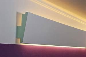 Led Deckenbeleuchtung Indirekt : led stuckprofil wdml 65b pr f r indirekte beleuchtung der wand bendu ~ Indierocktalk.com Haus und Dekorationen
