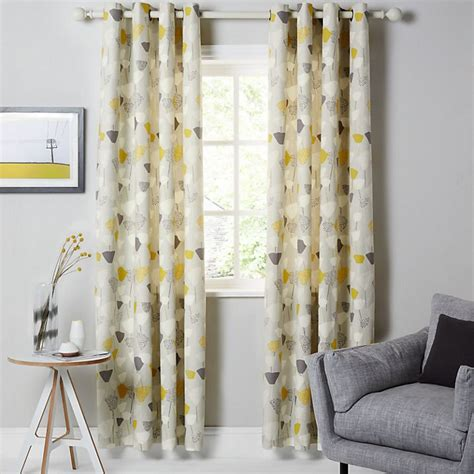 buy john lewis elin lined eyelet curtains citrine