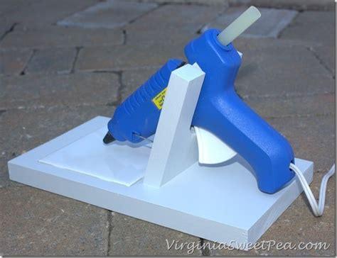 diy glue gun holder sweet pea
