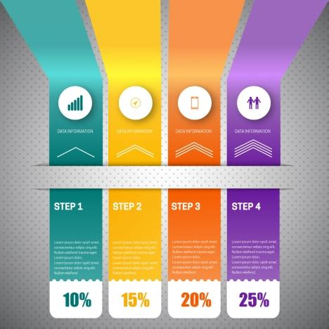 colorful tabs 3d infographic vector with vertical colorful tabs vectors