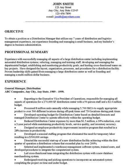 General Resume by Exles Of Resume General Objectives General Resume