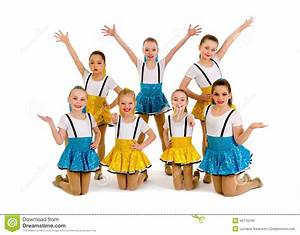 Junior Girls Jazz Dance Group Stock Image - Image of young ...
