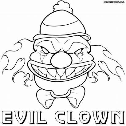 Clown Coloring Scary Pages Spooky Template
