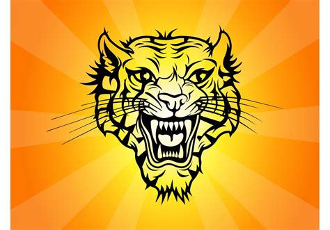tiger tattoo vector   vector art stock