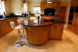oak kitchen island with breakfast bar - Kitchen and Decor