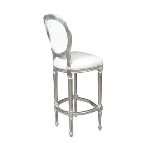 Chaise Baroque De Bar Blanche  Meuble Baroque