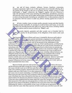 collateral assignment of lease