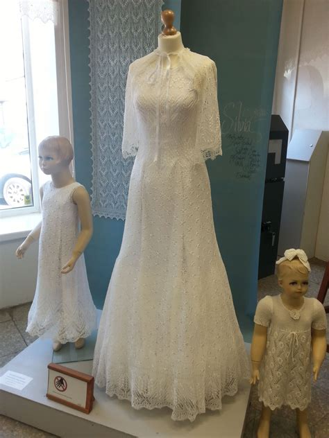 knitted wedding dress  haapsalu lace center knitted