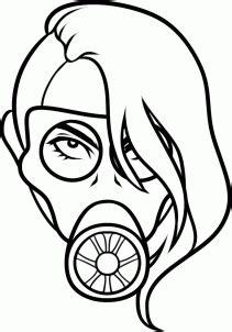 How Draw Gas Mask Tattoo Step Tattoos Pop