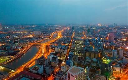 Vietnam Chi Ho Minh 4k Background Night