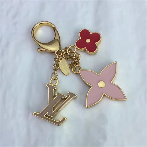 replica lv louis vuitton fleur de monogram bag charm  key holder   lvsg