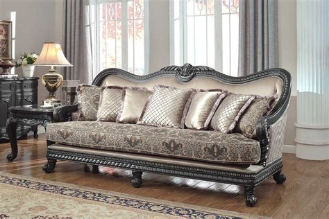 sofa black finish traditional living room hot sectionals