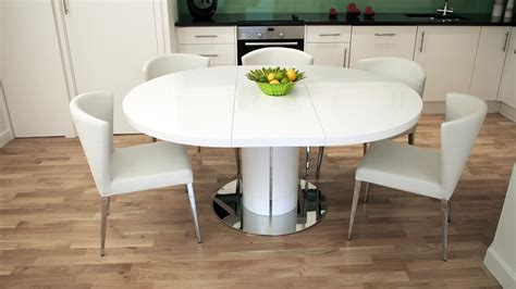round extending dining table sets modern round white gloss extending dining table and chairs