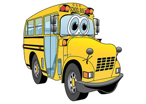 yellow school bus cartoon clipartsco