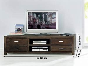 Sheesham Tv Board : sale lowboard tv board 185x55 cm massivholz sheesham stone wiam 1521 ~ Indierocktalk.com Haus und Dekorationen